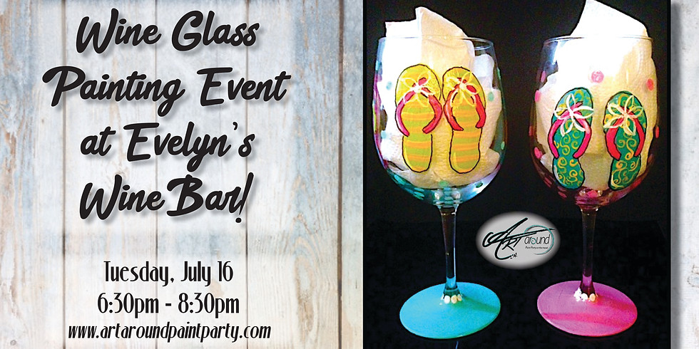 Wine Glass Painting at Evelyn's Wine Bar!