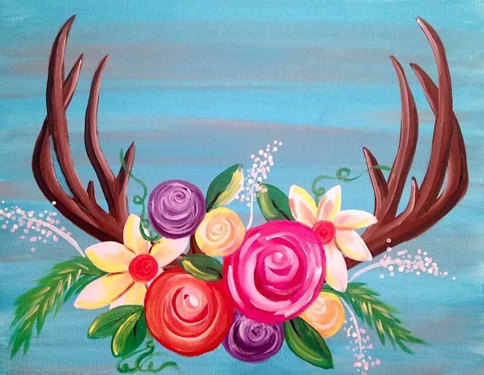 floral antlers