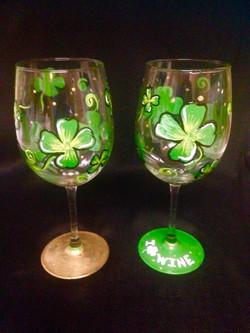 St. Patty's Wine Glass