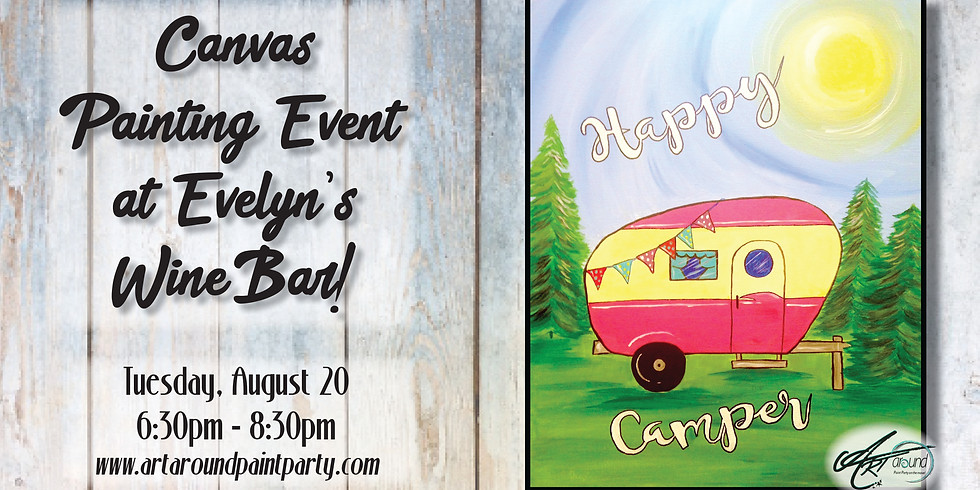 Canvas Painting at Evelyn's Wine Bar!