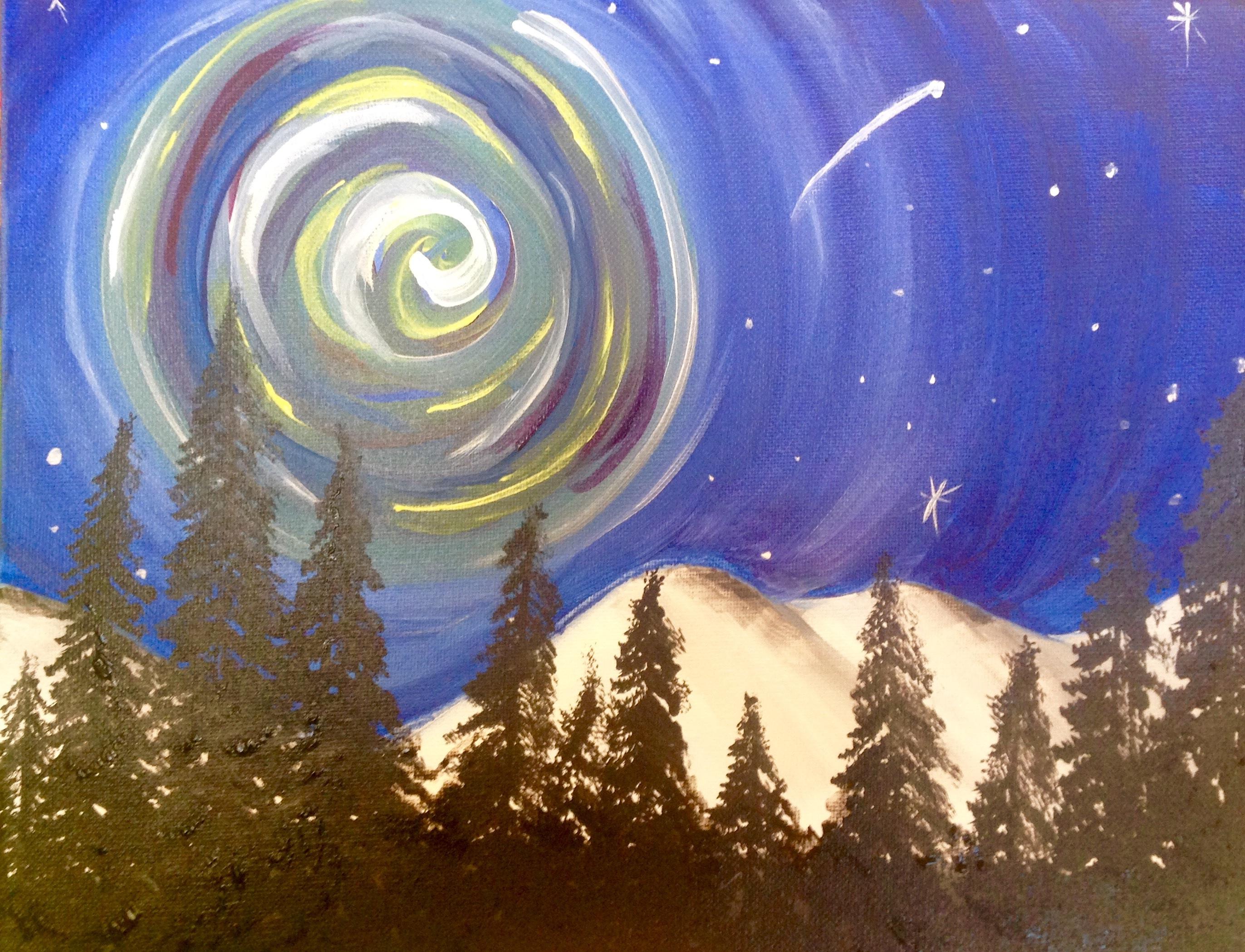 Swirl Sky Forest