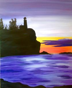 Split Rock Lightjouse Silouhette