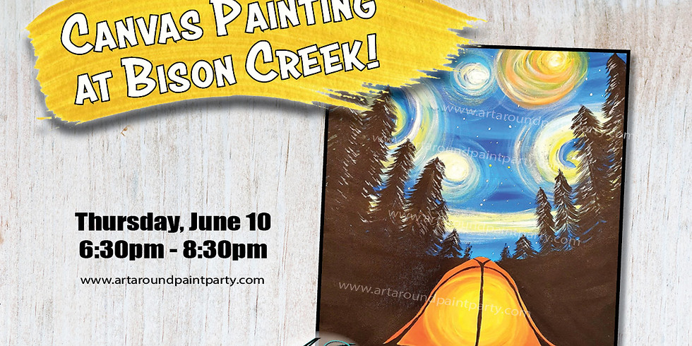 Canvas Painting at Bison Creek Bar & Dining!
