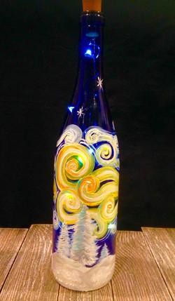 Starry Winter light up wine bottle