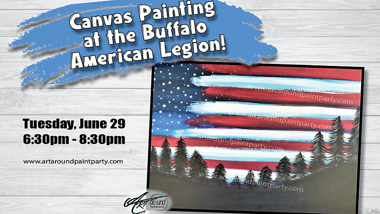 Canvas Painting at the Buffalo American Legion!