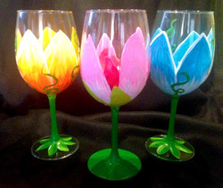 flowers 2 wine glasses 7