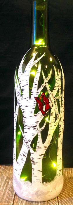 Birch Tree light up wine bottle