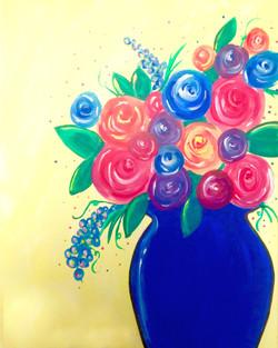 Fun Flowers in Vase