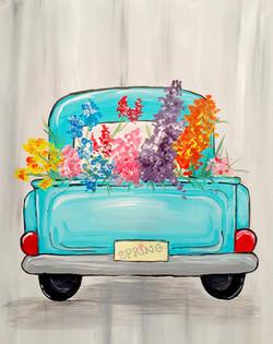 Spring Flower Truck