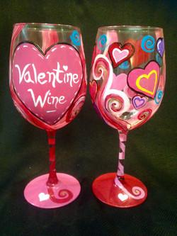 vday wine glasses