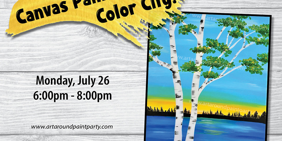 Canvas Painting at Color City Pottery!