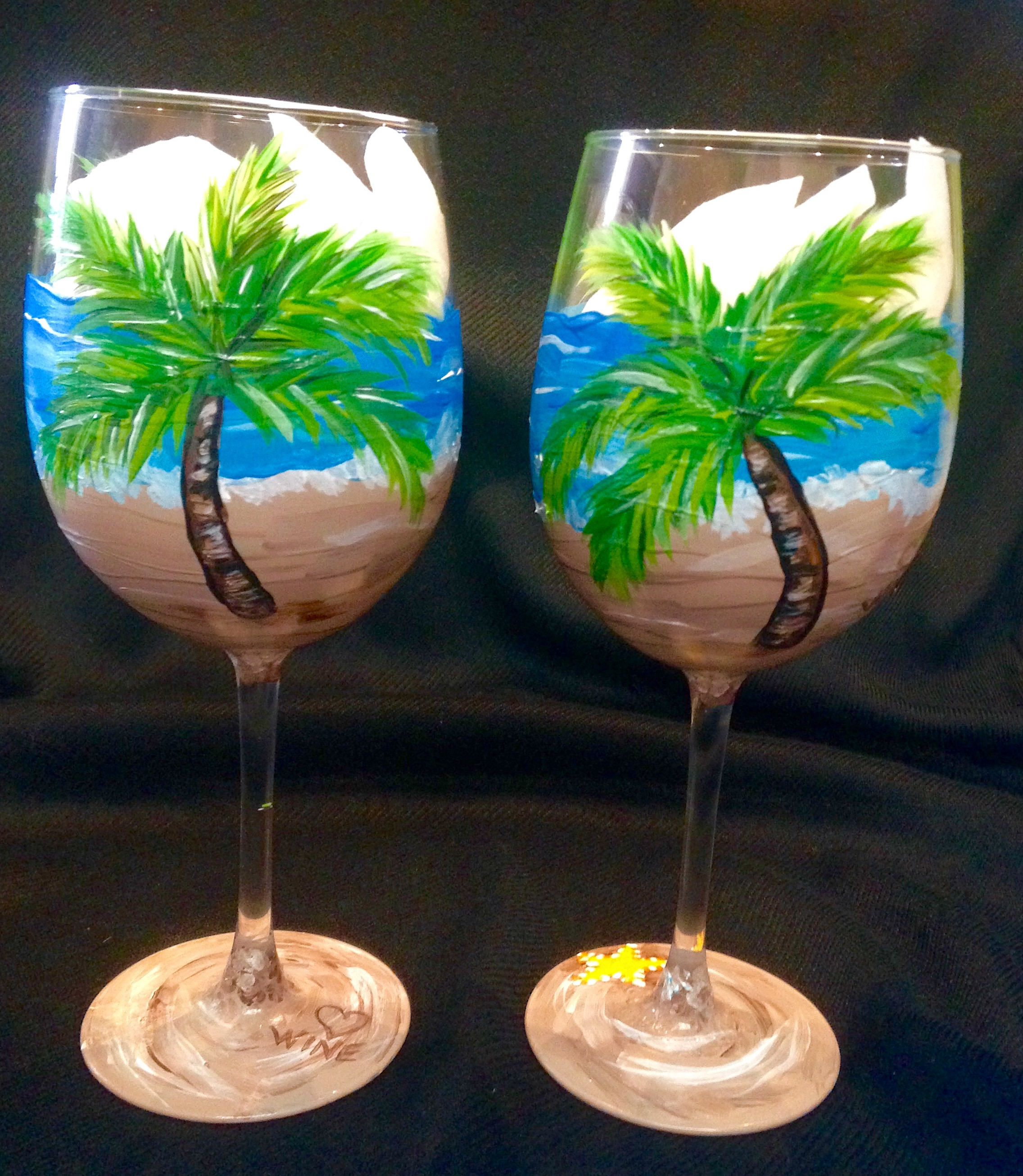 Beach Wine Glasses