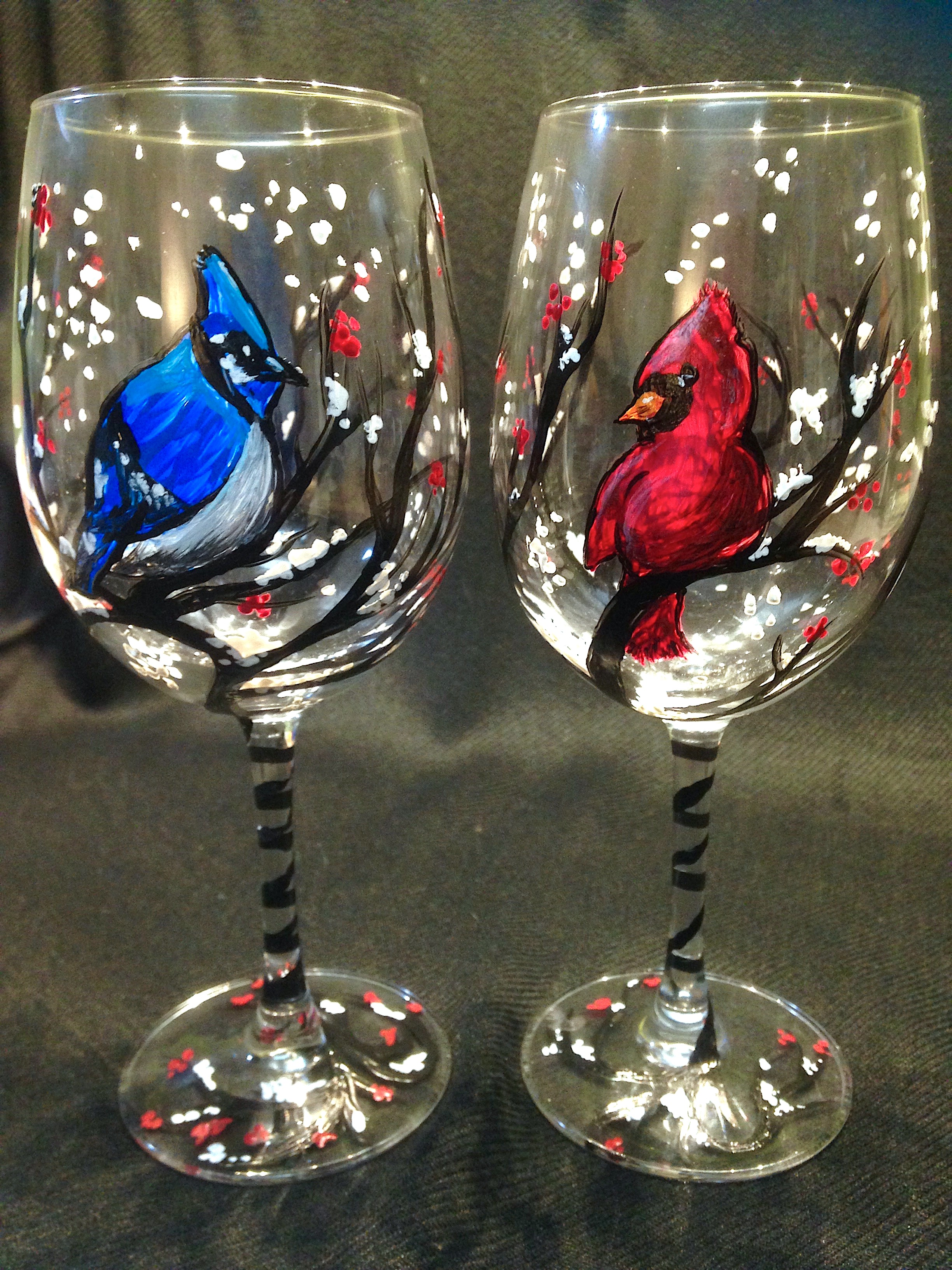 bird wine glasses