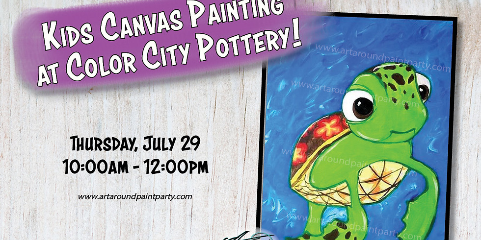 Kids Canvas Painting at Color City Pottery!