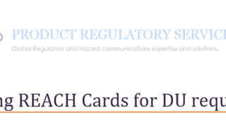 Developing REACH cards for DU requirements
