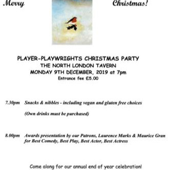 Awards ceremony and Xmas party - Monday 9 December, 7.30pm