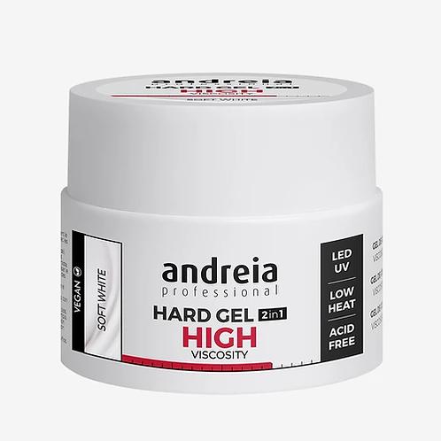 Andreia Hard Gel 2In1 Hight Viscosity - Soft White 44gr (VEGAN)