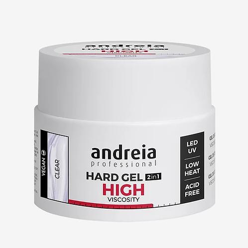 Andreia Hard Gel 2In1 Hight Viscosity - Clear 44gr (VEGAN)