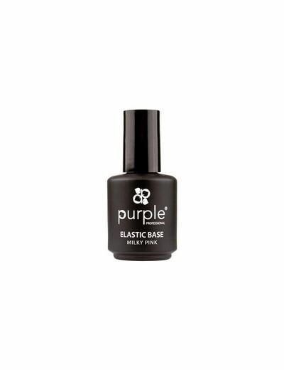Queen Elastic Base Color  Milky Pink 15ml  Purple