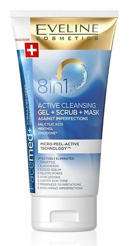 FACEMED 8 IN 1 ACTIVATED CLEASING GEL+SCRUB+MASK 150ML