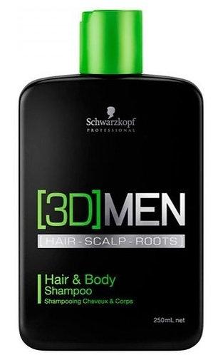 Shampoo Schwarzkopf Professional 3DMENSION Hair & Body 250ml