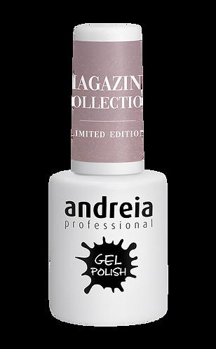 Verniz Gel Andreia MZ6 – Nude Cinza com Ligeiros Brilhos Dourados 10.5ml