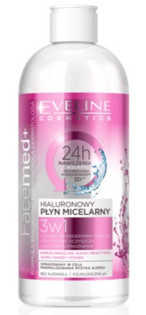 FACEMED HYALLURONIC MICELLAR WATER 3 IN 1 400ML