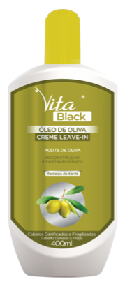 CREME LEAVE-IN VITABLACK OLEO DE OLIVA 400ML