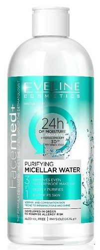 FACEMED PURIFYING MICELLAR WATER 3 IN 1  400ML