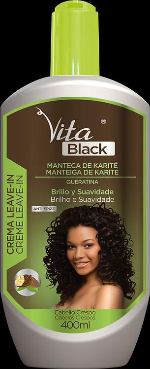 CREME LEAVE-IN VITABLACK MANTEIGA DE KARITE 400ML