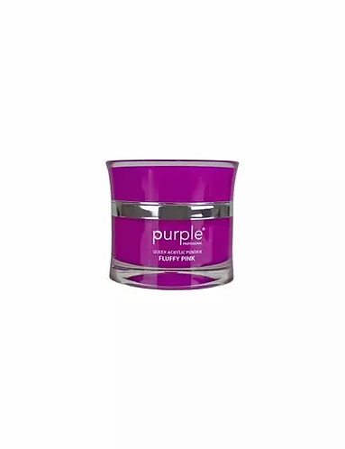 Queen Pó Acrílico Fluffy Pink 30ml - Purple