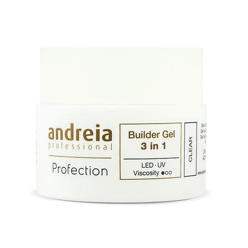 Andreia Profection Gel Construção 3 Em 1- Clear 44g