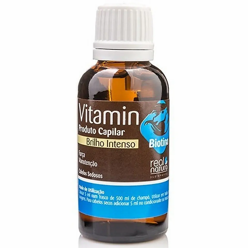 Real Natura Vitamina Biotina + Óleo De Ricino Pro Força Crina 30ml
