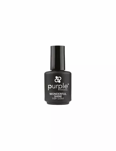 2 Way Base & Top Coat 15ml  Purple