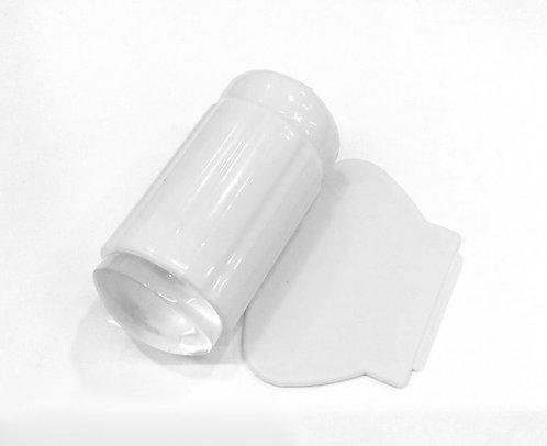 Carimbo com Ponta de Silicone - Transparente