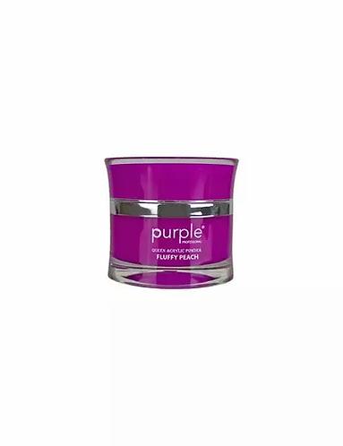Queen Pó Acrílico Fluffy Peach 30ml - Purple