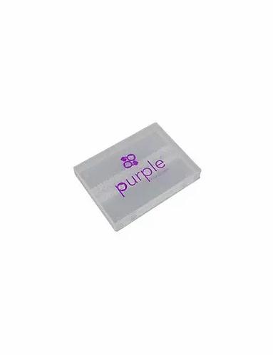 Caixa de Armazenamento de Ponteiras de Brocas - Purple - lindecosmetics.com