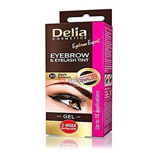 Delia Gel Corretor Sobrancelhas e Pestanas Cor 3.0 Dark Brown