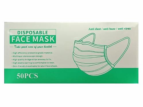 Máscaras de Proteção  Cirúrgicas em TNT Caixa de 50 Unidades