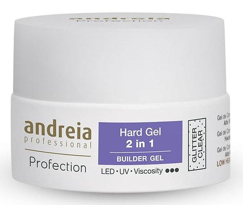 Andreia Profection Hard Gel 2 em 1 Cover Glitter Clear 22g