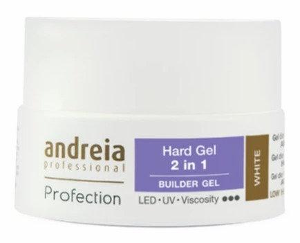 Andreia Profection Hard Gel 2 Em 1 - White 22g
