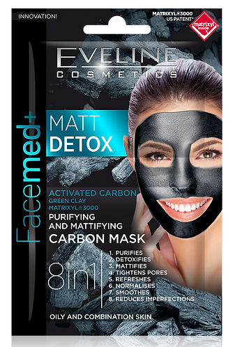 FACEMED MATT DETOX CARBON MASK 2X5ML