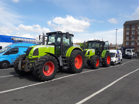 2 x used CLAAS tractors coming to th Island