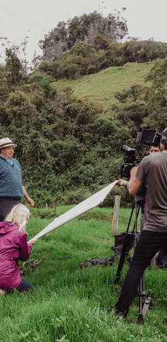 Columbia CTCN filming in the mountains