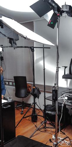 Quick interview behind the scenes