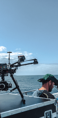 Drone filming on the boat - Citrix