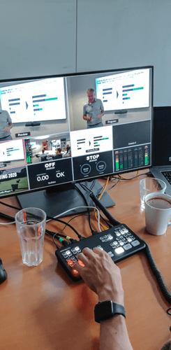 Live remote internal briefing
