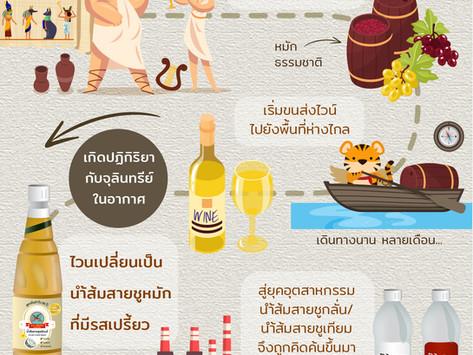 เปิดตำนาน!!นำ้ส้มสายชูเป็นมายังไง ? (Vinegar's history)