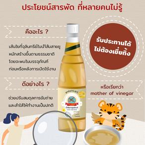 ตะกอนน้ำส้มสายชู (mother of vinegar) จุลินทรีย์ดีที่ไม่ควรพลาด!