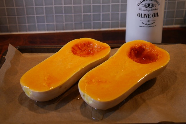 Butternut squash 3 with olive oil